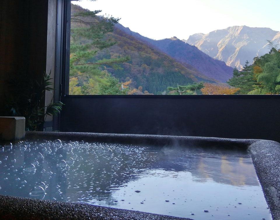 谷川温泉  水素風呂と美食と・・・「やど莞山 KANZAN」浴場イメージ